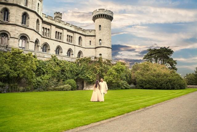 Eastnor castle wedding photography
