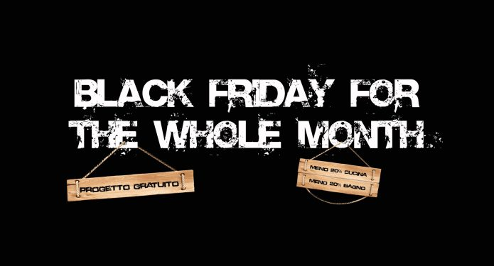 Black friday for the whole month