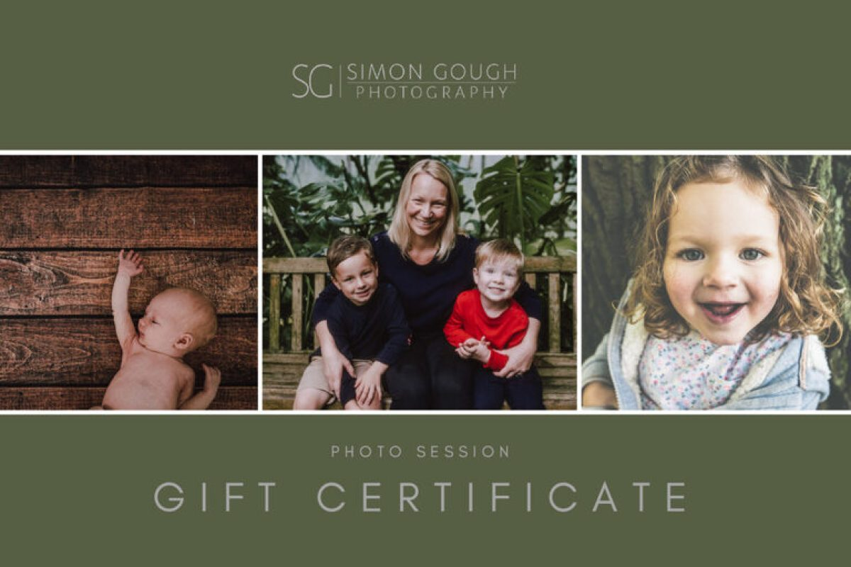 photography gift certificates cardiff