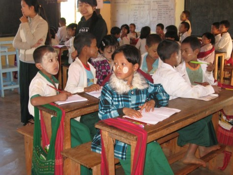 School kids in Kalaw