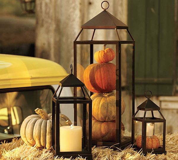 Light up your entryway with this festive fall lantern.