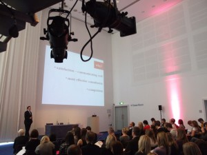 Simon Wakeman presenting at DPGSM, Manchester