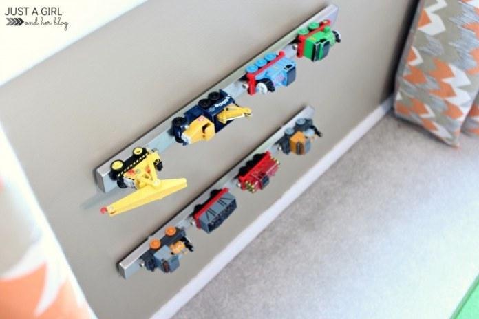 6 Use the Grundtal knife rack to organize small metal toys via simphome