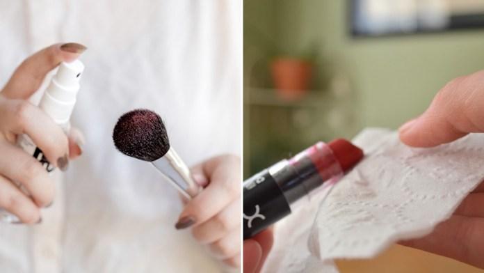 simphome sanitize makeup