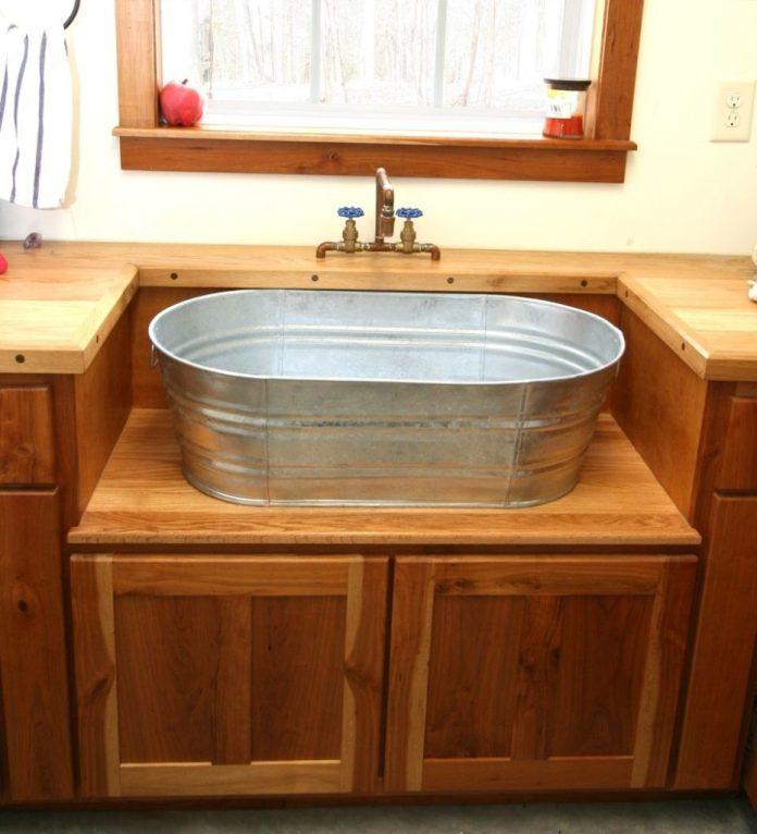 1 Galvanized bucket sink via simphome