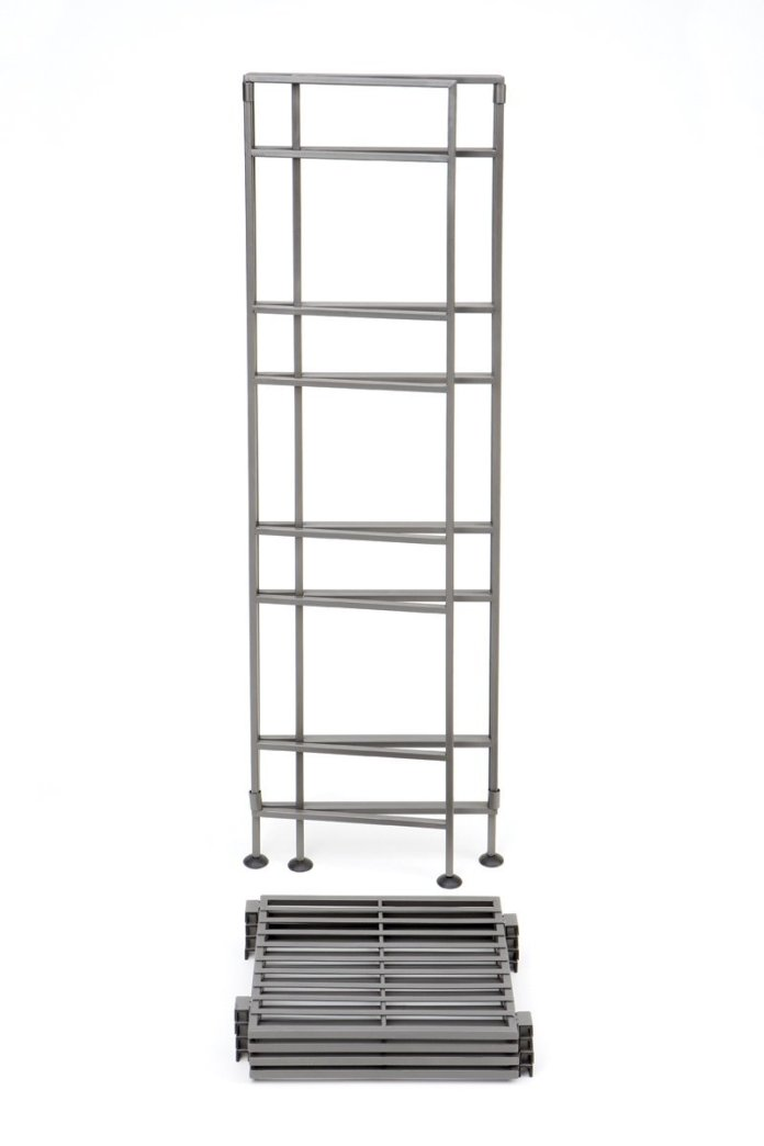 2 Seville Classics 4 Tier Iron Square Tower Shelving via simphome 4