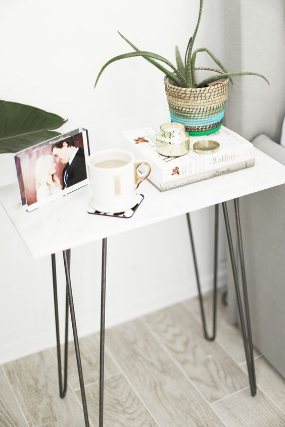 23 One Step Marble Side Table via simphome
