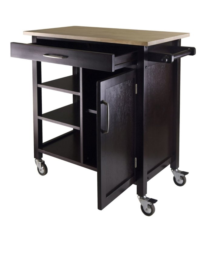 3 Winsome Mali Kitchen Cart via Simphome 2