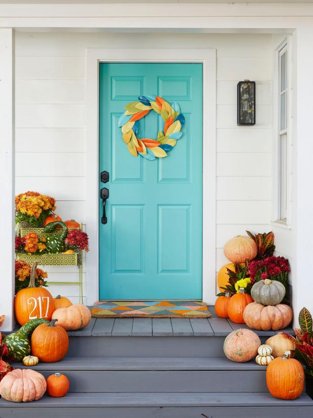 pumpkin front door