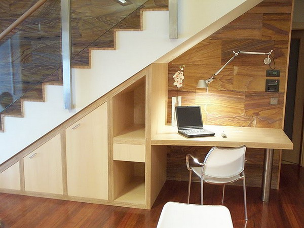under stair office