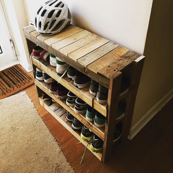 shoe pallet rack