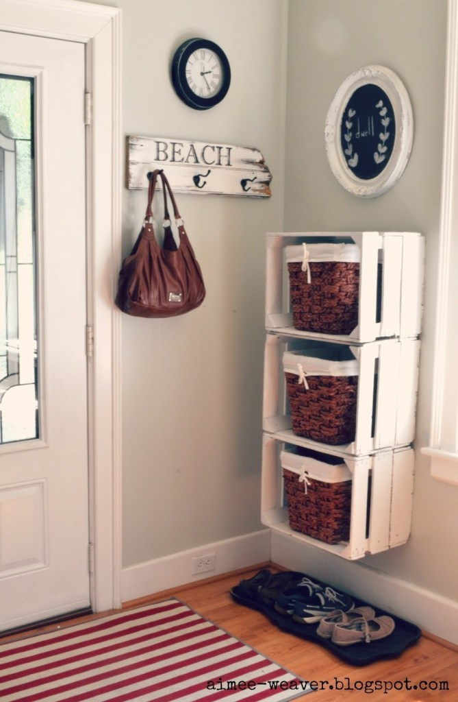 entryway shelves