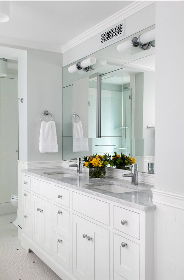 simphome white bathroom