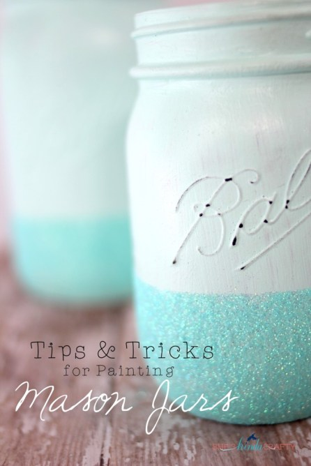 How to make Mason Jar Containers decor (1)