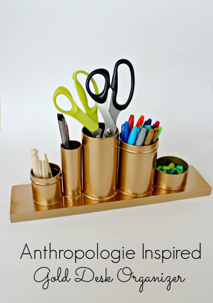 1. Gold Pencil Holder