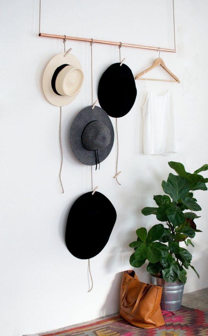 5 Hanging Hat Rack Simphome com
