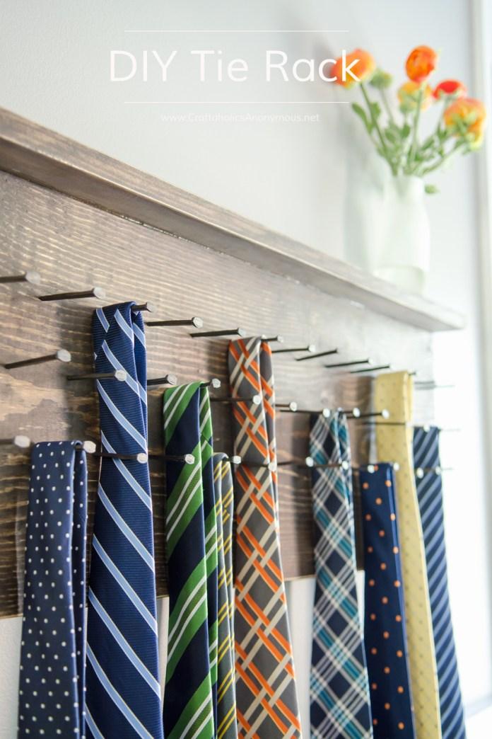 17 DIY Tie Rack idea Simphome com