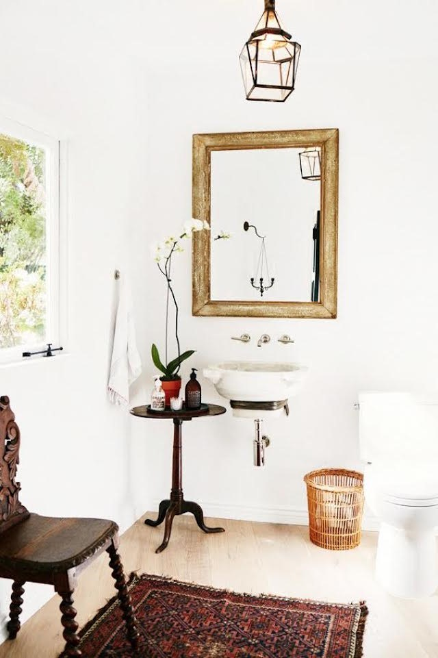 7 A Simple yet Attractive Powder Room Simphome com