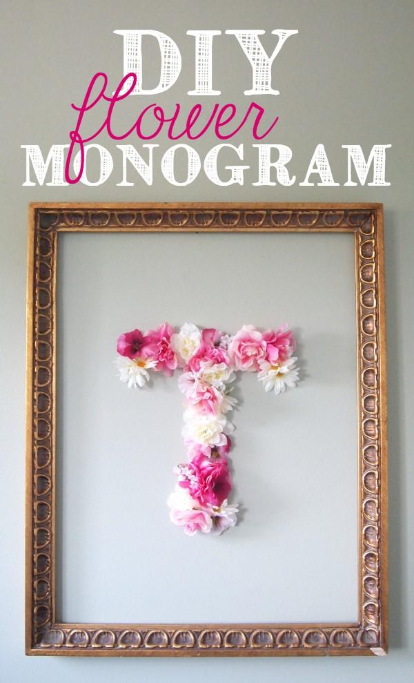 8 Faux Flower Monogram Simphome com