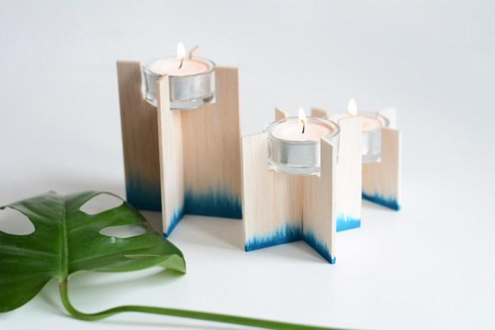 10 DIY Dip Dye Candleholder Simphome com