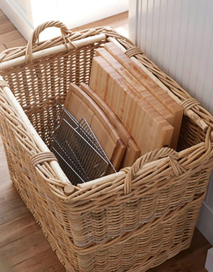 9 Big Woven Basket for Sheet Pans and Cutting Boards Simphome com