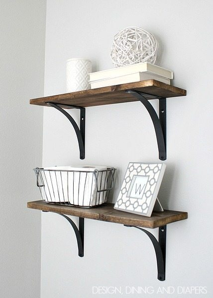 9 Wooden Bathroom Shelves Simphome com