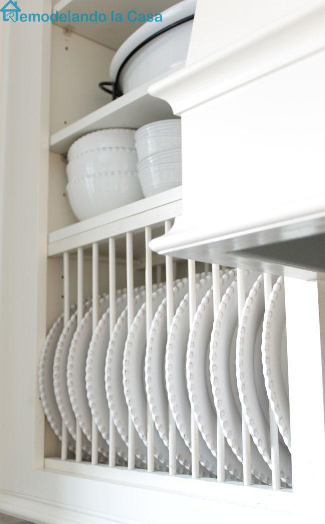 Plate Rack inside Cabinet_Simphome.com