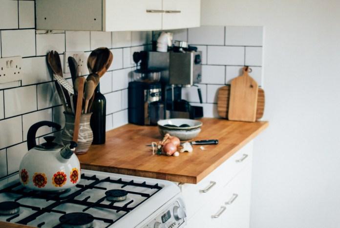 1 Butcher Block Countertop and White Subway Tiles Simphome