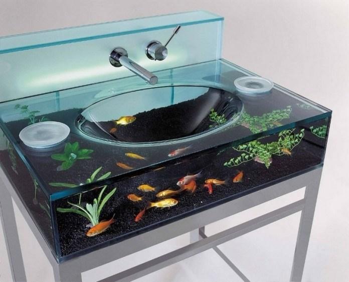 1 Clear Glass Aquarium Sink Simphome com
