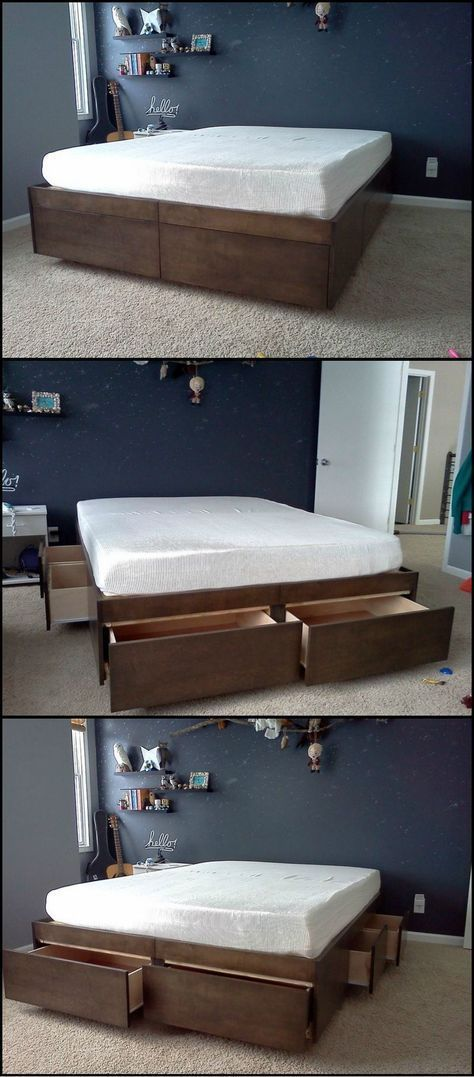 3 DIY bed with drawers simphome