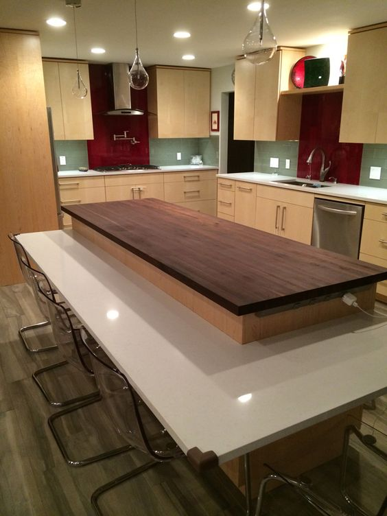 5 Prefinished walnut butcher block countertop Simphome