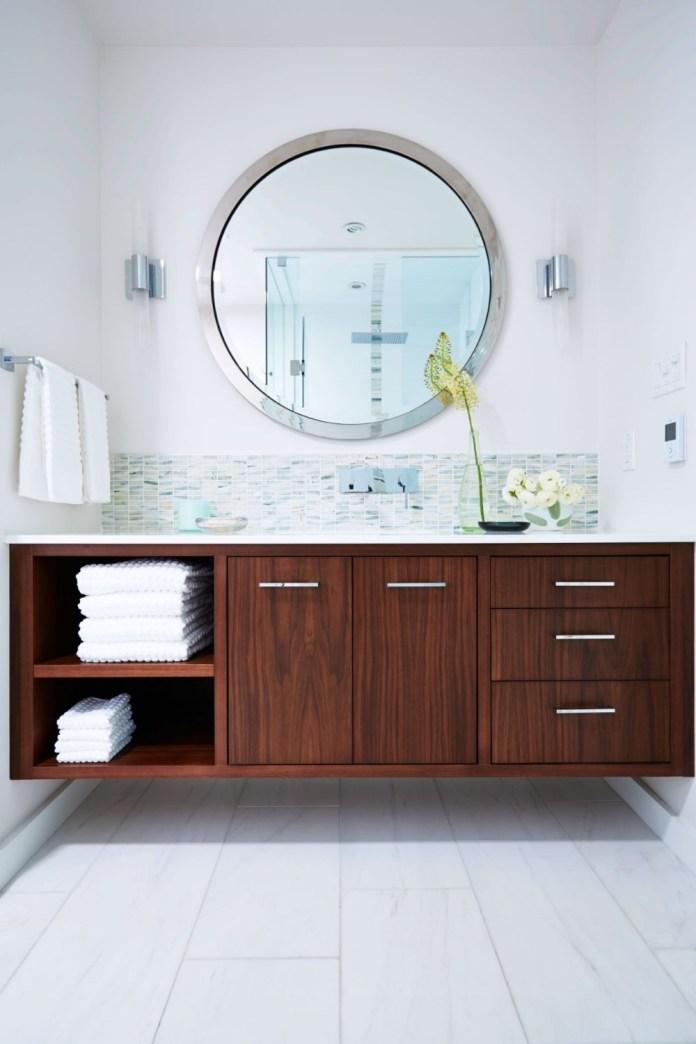 8 Undermount Sink in Mid Century Modern Bathroom Simphome com
