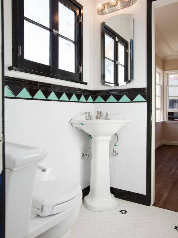 10 Black and White Bathroom via simphome