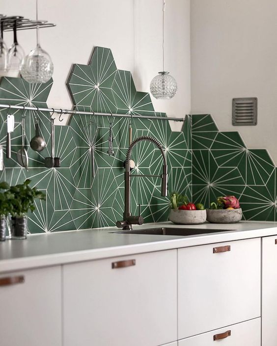 142 Marrakech Design Dandelion Kitchen tiles via simphome