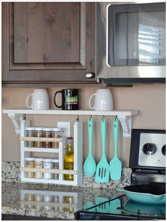 164 Kitchen Backsplash Shelf and Organizer via simphome