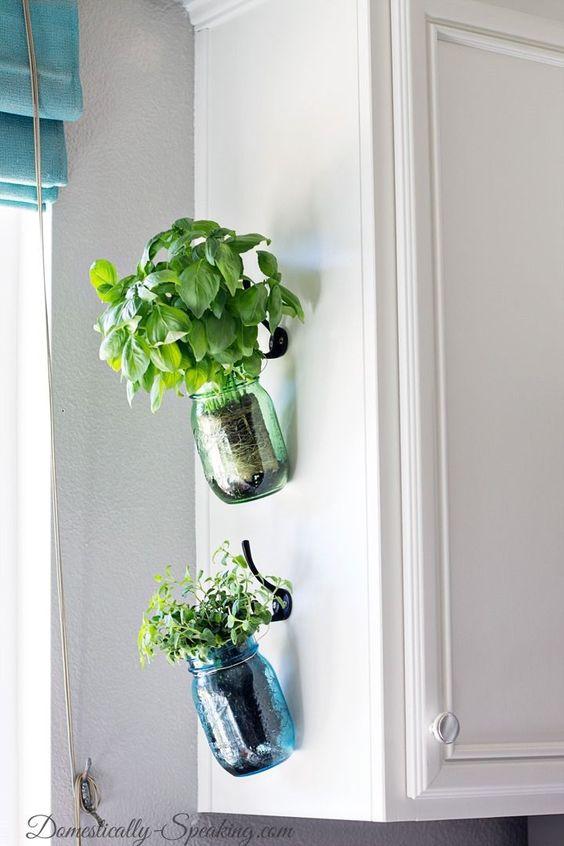 179 a Hanging Herb Mason Jars via simphome