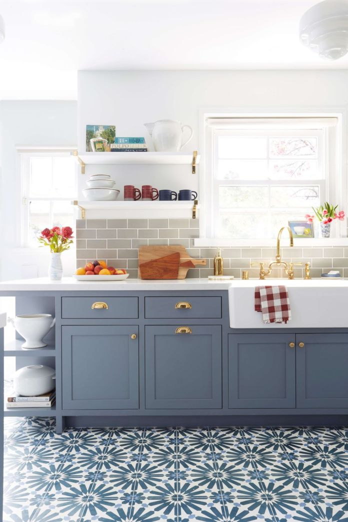 222 Create a Rack Chandelier via simphome emily henderson modern deco blue kitchen cement tile lorey kitchen finals