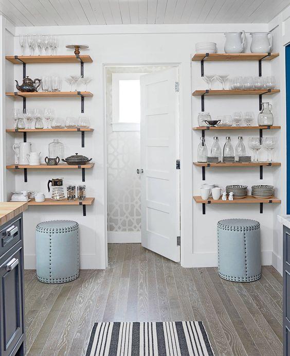 290 Open Kitchen Shelves Farmhouse Style via simphome