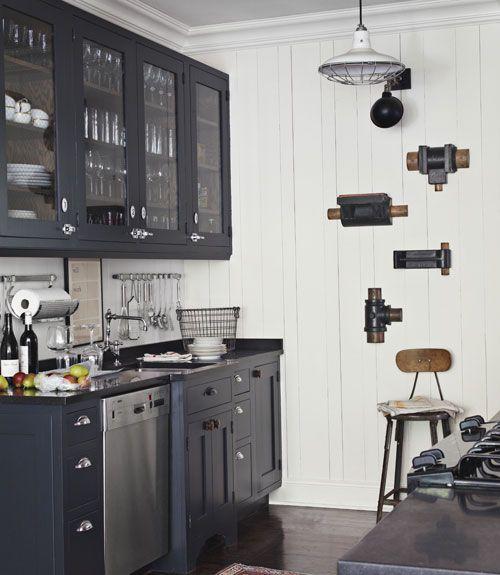 45 black and white kitchen combo simphome
