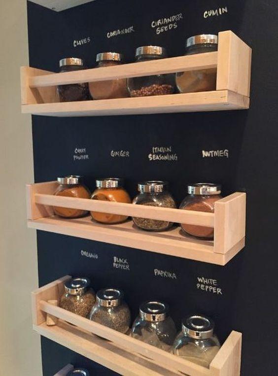 63 Ikea space rack and chalkboard wall makeover via simphome