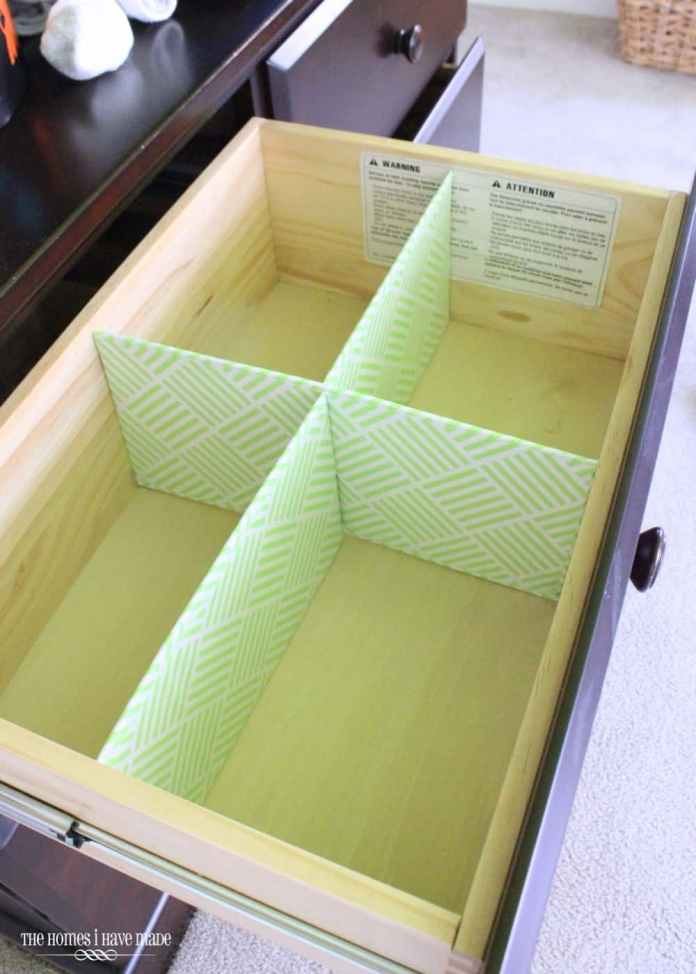 4 Drawer Organizer with Cardboard via simphome