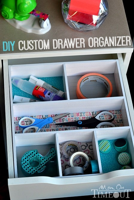 5 DIY Drawer Organizer via simphome