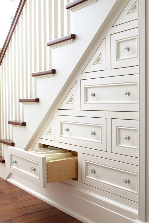 3 Fill in the Area Under the Stair with Drawers via simphome