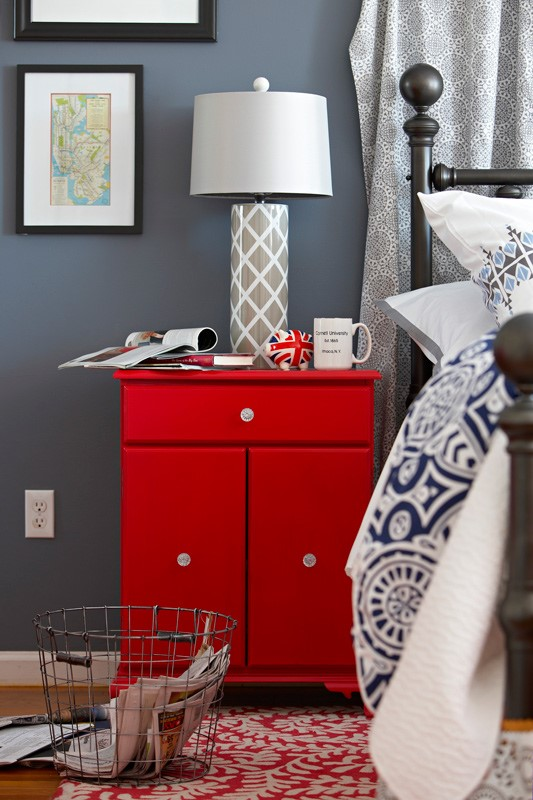 4 A Side Table with Storage Space Instead of a Nightstand via simphome
