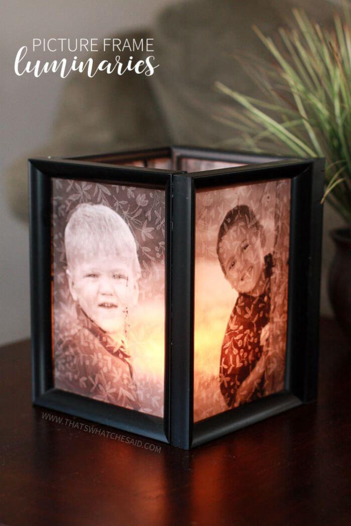 47 Picture Frame Luminaries via simphome com