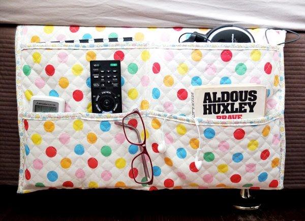 8 DIY Bedside Caddy via simphome