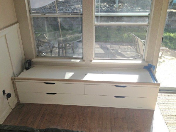 A WINDOW SEAT MADE FROM IKEA STOLMEN via Simphome Process 4
