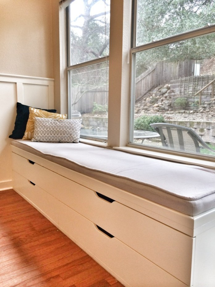 A WINDOW SEAT MADE FROM IKEA STOLMEN via Simphome Process 7