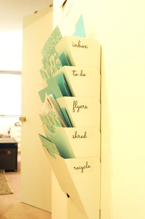 How to make a mail center from Kvissle magazine rack via simphome 1