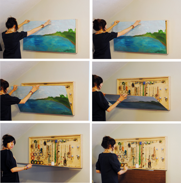 4 Wall Art and Hidden Jewelry Box via simphome
